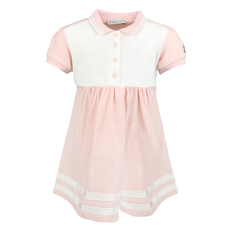 1349f0fba Moncler Baby Girls Ivory   Pink Tennis Dress