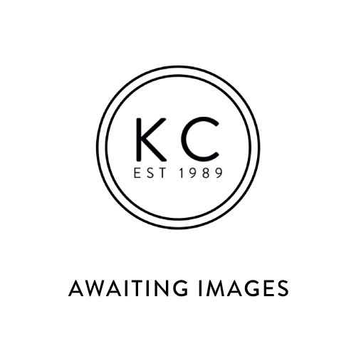 A Dee Girls Navy Heart Print Laceless Trainers